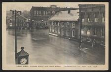 POSTCARD MONTPELIER VT/VERMONT STATE & MAIN ST AREA FLOOD DISASTER VIEW 1930'S