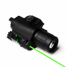 US Combo CREE Q5 Flashlight&Green Laser Sight 20mm Rail For Rifle Pistol Gun