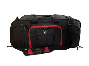 6 Pack Fitness Beast Duffle Black & Red Travel Fit Bag Meal Prep Insulated