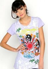 ED Hardy Womens Kamikaze Dragon Purple T Shirt