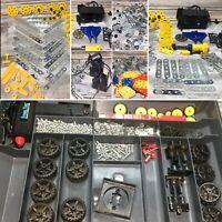"🚩VTG '90s ""Meccano Erector + Remco Steel Tec"" Construction Toy Case Lot (300pc)"