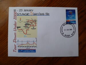 2000 TOURDOWN UNDER STAGE 5 CYCLING COVER GAWLER POSTMARK