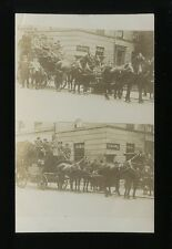 Yorkshire Yorks DONCASTER Horse Charabanc outside Gazete Printing 2 view  RP PPC