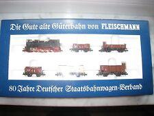Fleischmann Zugset 7886 - T16 '80 Jahre Dt. Staatsbahnwagen Verband' in OVP