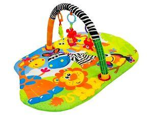 Lay & Play Baby Playmat Giraffe Activity Fun Play Mat With Sensory Toys