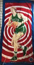 Vintage Larry Bird Boston Celtics Basketball NBA Players Association Towel 1980s