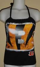 Ladies Cincinnati Bengals Reconstructed NFL Football Shirt Halter Top DiY