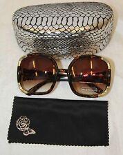 Joan Boyce Tortoise / Gold oversized womens sunglasses with hard case 3488042ck