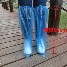 10 Pairs Waterproof Thick Plastic Disposable Rain Shoe Covers Anti-Slip High-Top