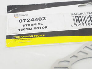 New! Magura Storm SL Bicycle Disc Brake Rotor 160m Steel 6 Bolt With Bolts