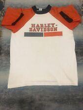 New listing Harley Davidson 1970's Champion Blue Bar Vintage Shirt *Rare