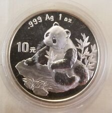 1998 s china 1 oz silver panda small date capsule 999 fine troy ounce coin