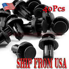 US 40Pcs Black Nylon Bumper Clips For 84-10 Honda S2000 Civic CRV/Acura RDX AM