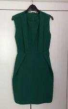 Atmósfera Usado Para Damas Talla 6 Verde Vestido Inteligente Oficina Boda Ocasión