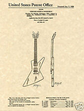 GIBSON EXPLORER FUTURA PATENT Art Print READY TO FRAME guitar Ted McCarty 1958