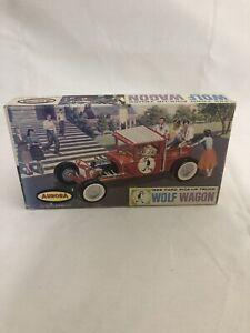 RARE Aurora #508-49 1928 FORD PIck-Up Truck WOLF WAGON model kit 1:32.