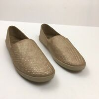 YELLOW BOX Womens Sz 11 Loafers Slip on Rose Gold Sparkle Bling