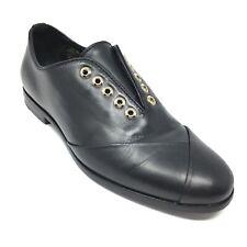 Women's Lanvin Paris Loafers Flats Shoes Size 36 EU/6 B Black Leather AG12