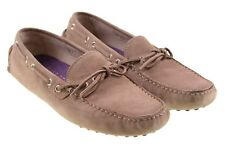 LKNEW Worn Once - Thomas Dean Made in ITALY Sand Brown Suede Loafers Shoes 10.5