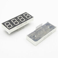 """2PCS Red 12 Pins 0.56"""" 4 Digit LED Display Common Anode LED with Time Display"""