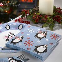 LUXURY CHRISTMAS PAPER NAPKINS-High Quality Serviettes-Xmas Party/Festive Buffet