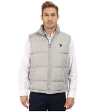 US POLO ASSN. Vest Men's Logo Quilted Puffer Vest Jacket XL Limestone Grey NWT