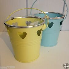 Vintage Style T- Lights Heart Pot with Handle in 4 colours
