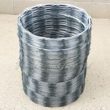 "RAZORWIRE RAZOR RIBBON BARBED WIRE 18"" 5 COILS 250 FEET COVERAGE"