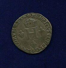 "FRANCE  HENRY II  1550-A  ""GROS de NESLE"" SILVER COIN, XF"