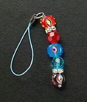 New Cell Phone Charm Dangle Crystal Lucky Eye Glass Bead Silver Free Shipping