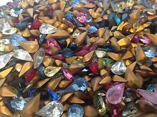 Vintage Pear shape Rhinestones Mixed size colour Bargain x50 CRAFT Post Free
