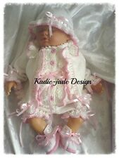 Knitting Pattern #66 (NOT THE KNITTED ITEM) Romper Set for Baby 0-3m/Reborn