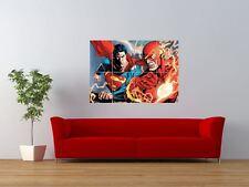El Flash Vs Superman Comic Dibujos Animados lucha gigante pared arte cartel impresión