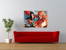 THE FLASH VS SUPERMAN COMIC CARTOON FIGHT GIANT ART PRINT PANEL POSTER NOR0022