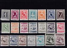 Ö 1925 - 30 Ziffernserie Postfrisch ** MNH ANK 447 - 467 € 325,--