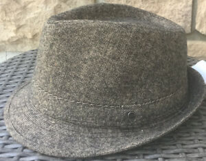 STETSON BROWN Trilby Fedora S/M NEW No TAGS 100% Polyester