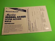 MARLIN MODEL 444SS LEVER ACTION OWNERS MANUAL