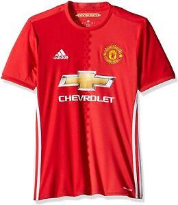 Adidas Mens T-Shirt Soccer Sport Manchester United FC Home Replica Jersey AI6720