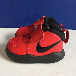 Nike Toddler Red Black Team Hustle Boys (TD)  Boys Sneakers Size 4C