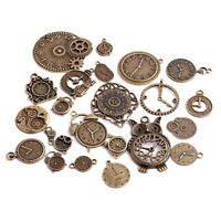 20pcs Zinc Alloy Mixed Clock Pendant Charms Steampunk Time Clock Charms Fashion