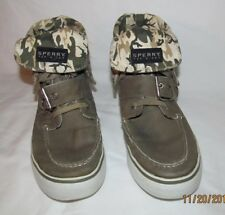 Sperry Top Siders Women's Canvas High Top Boat Shoe Size 7