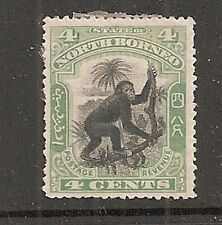 Album Treasures North Borneo Scott # 103 4c Orangutan Mint Hinged