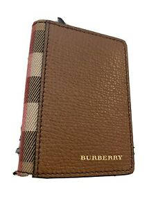 Burberry Unisex Pebbled Leather Card Holder Wallet