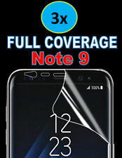 3x FULL COVERAGE ULTRA HD SCREEN PROTECTOR TPU COVERS FOR SAMSUNG GALAXY NOTE 9