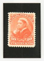 "1893 Canada Twenty Cents Stamp, Queen Victoria ""Widow Weed"", Mint, OG, Scott #46"