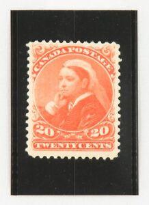 """1893 Canada Twenty Cents Stamp, Queen Victoria """"Widow Weed"""", Mint, OG, Scott #46"""