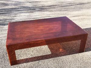 Grande Table Basse en plexi  ambré  vintage années 70's