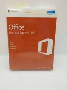 Microsoft Office Home and Student 2016 Windows Product Key Card SEALED