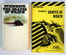 The Grapes of Wrath by John Steinbeck and Cliffs Notes Study Guide Lot 2 PB