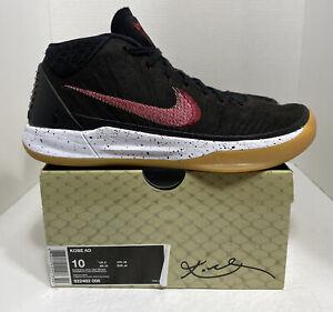 Nike Men's Kobe AD Mid Genesis Black Gum Basketball Shoes Size 10 922482-006 HTF